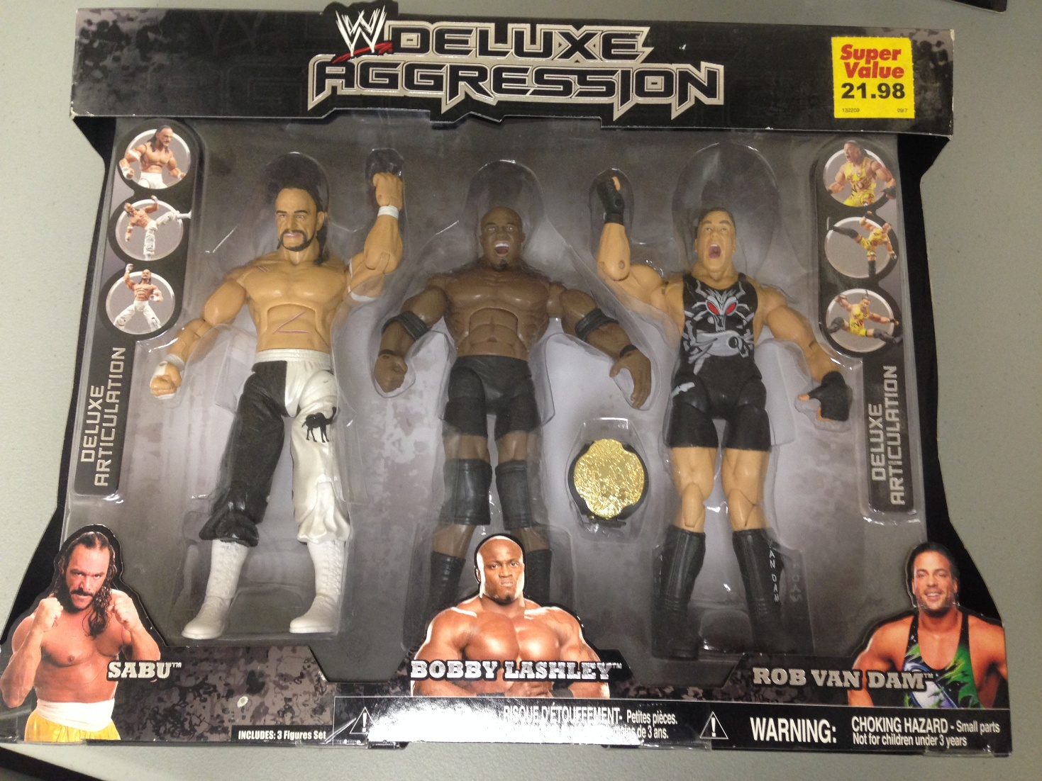 Bobby Lashley, Rob Van Dam and Sabu