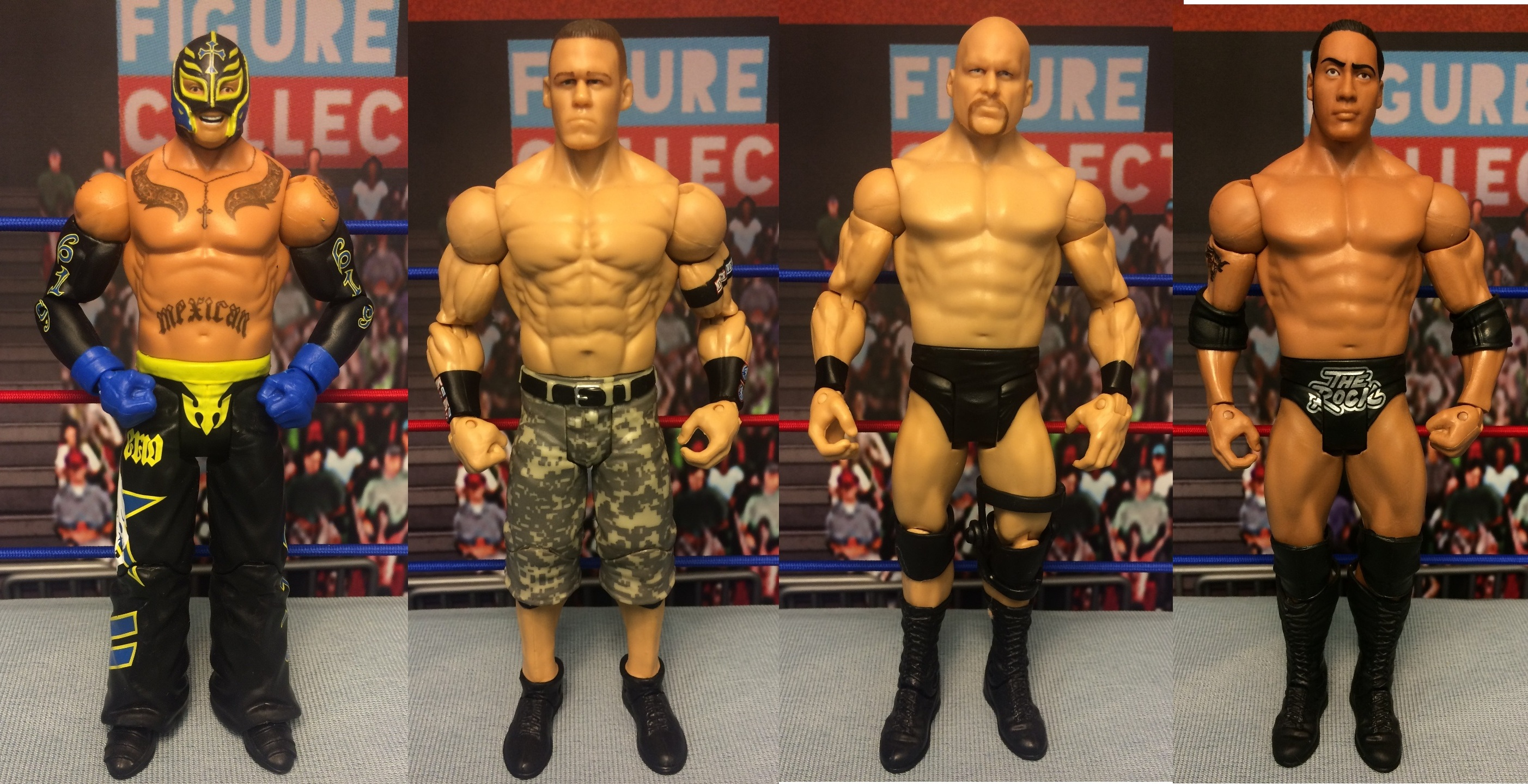 Champion Collection: Rey Mysterio, The Rock, John Cena, Steve Austin