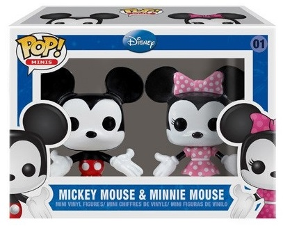 01 Mickey Mouse & Minnie Mouse