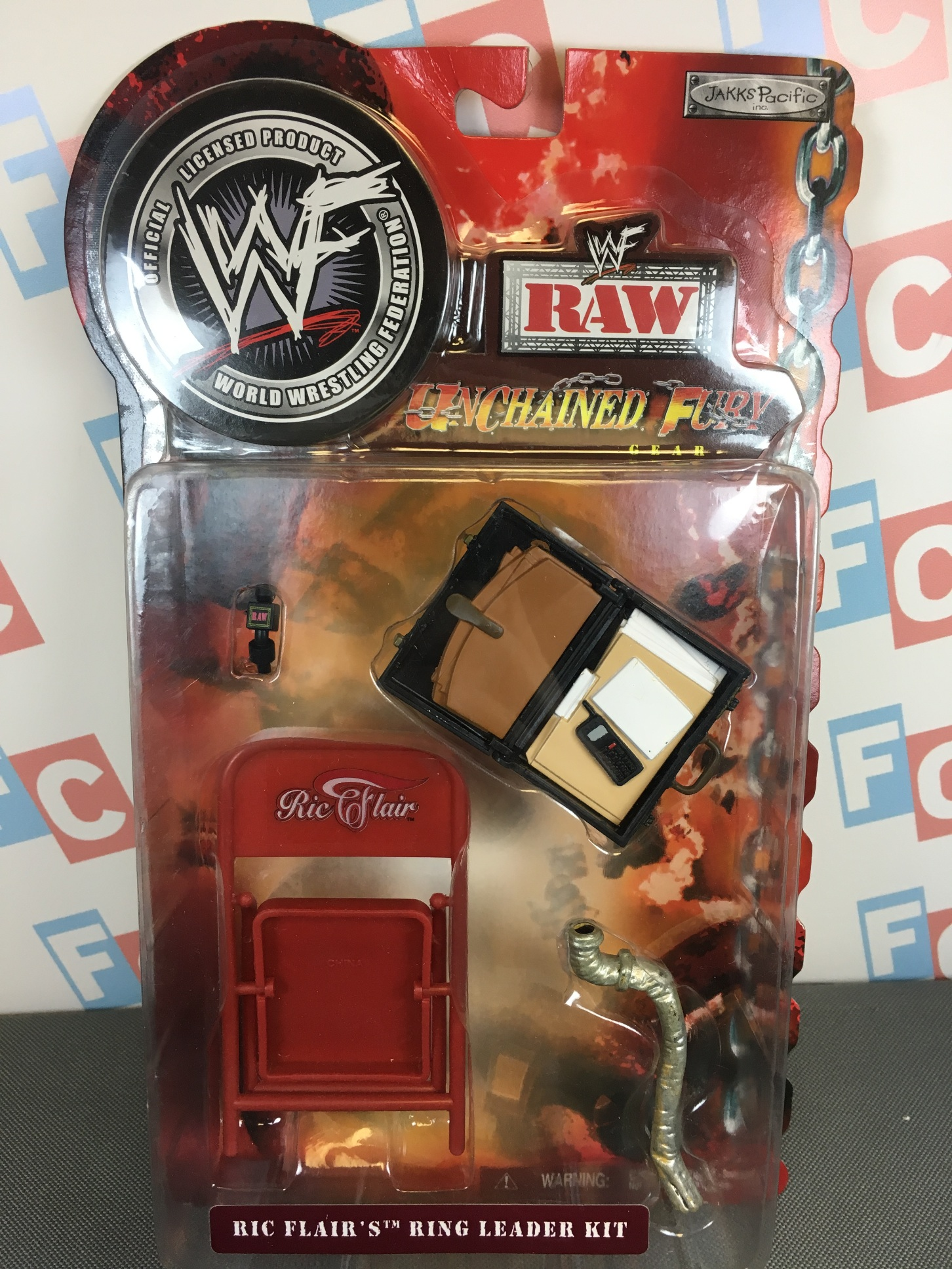 Ric Flair Ring Leader (Chair, Briefcase, Microphone, Pipe)