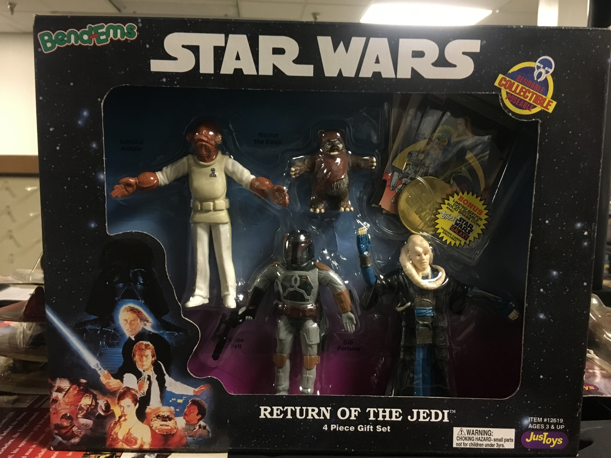 Return of the Jedi (Admiral Ackbar, Wickett an Ewok, Boba Fett, Bib Fortuna)
