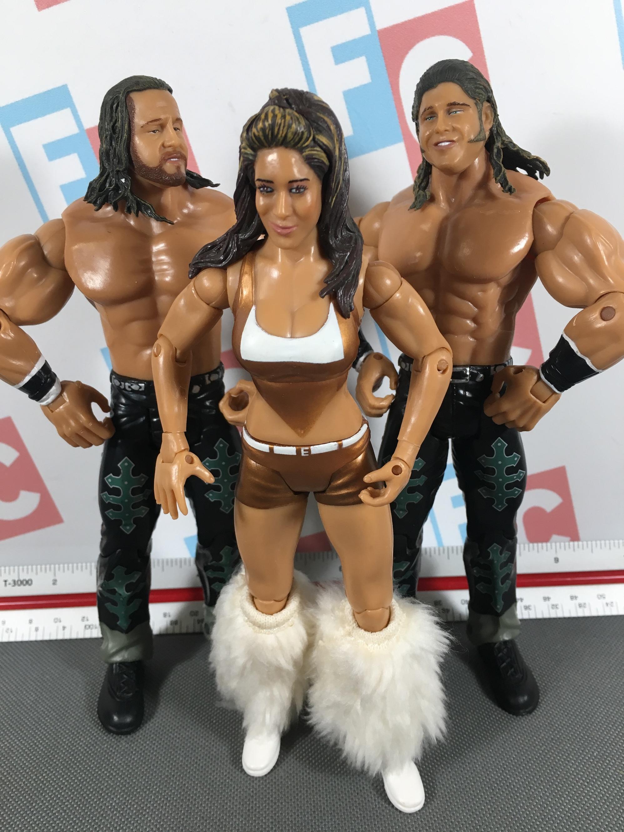 WWE MICRO AGGRESSION FINLAY CM PUNK /& JOHN MORRISON FIGURES