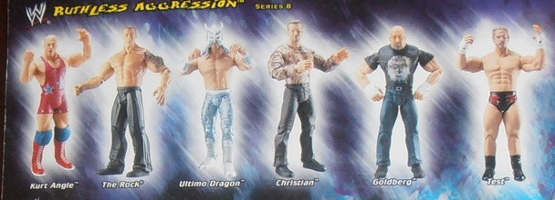 WWE Jakks Ruthless Aggression Series 8 Figures