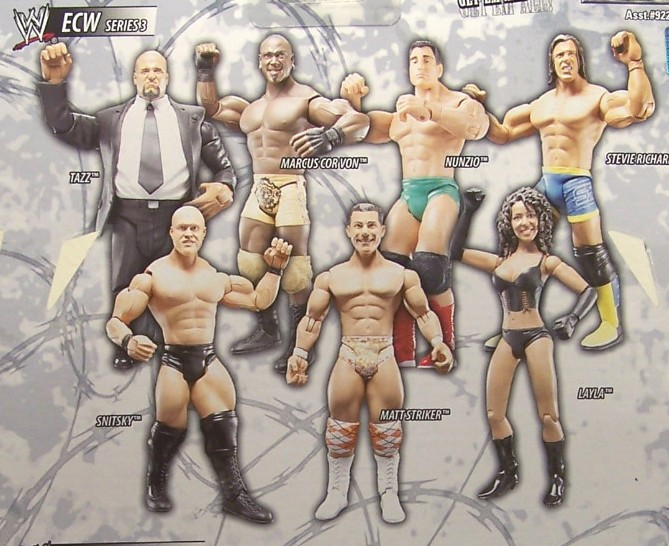 WWE Jakks Ruthless Aggression ECW Series 3 Figures