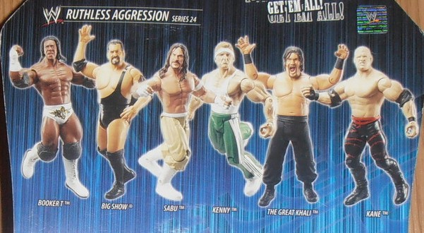 WWE Jakks Ruthless Aggression Series 24 Figures Kane Big Show Sabu Kenny Great Khali Booker T