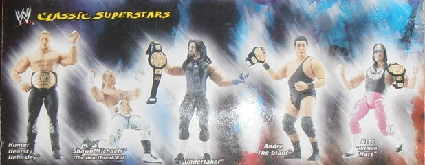 WWE Jakks Ruthless  Aggression Classic Superstars Series 1 Figures Bret Hart Ultimate Warrior Shawn Michaels Triple H Andre the Giant The Undertaker