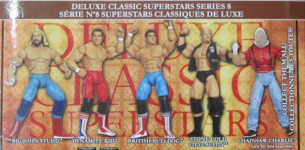 WWE Jakks Classic Deluxe Superstars Aggression Series 8 Figures