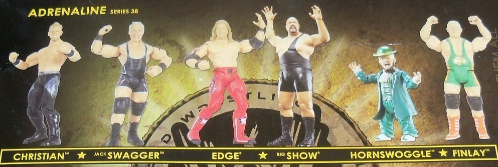 WWE Jakks Ruthless Aggression Adrenaline Series 38 Figures Edge and Big Show, Hornswoggle and Finlay, Jack Swagger and Christian