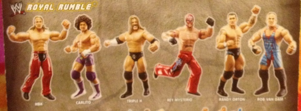 WWE Jakks Ruthless Aggression Royal Rumble 2006 PPV Exclusive Rob Van Dam Rey Mysterio Shawn Michaels Figures