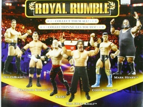WWE Jakks Ruthless Aggression Royal Rumble 2009 PPV Exclusive Figures Cody Rhodes Ted DiBiase Mark Henry Vladimir Kozlov The Great Khali Kane