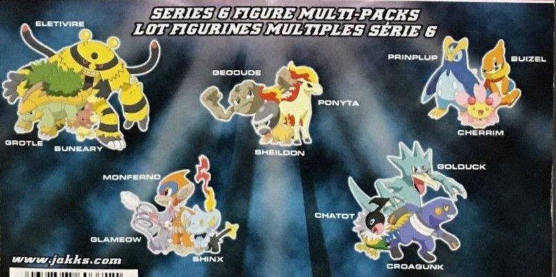 Jakks Pacific Pokemon Diamond and Pearl 3 Packs Series Chatot, Golduck, Croagunk<br> Monferno, Glameow, Shinx Eletivire, Grotle, Buneary Geodude, Shieldon, Ponyta Prinplup, Buizel, Cherrim