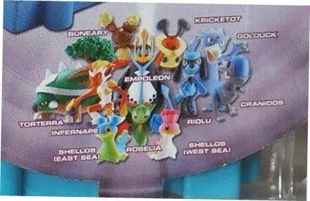 Nintendo Jakks Pacific Pokemon Diamond and Pearl Series 5  Torterra Infernape Shellos (East Sea) Buneary Empoleon Roselia Shellos (West Sea) Riolu Kricketot Golduck Cranidos