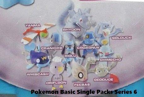 Nintendo Jakks Pacific Pokemon Diamond and Pearl Basic Series 6 Yanma Cranidos Whiscash Driflook Feebas Riolu Rhydon Croagunk Geodude Chimecho Golduck