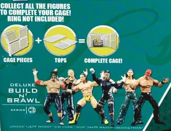 WWE Wrestling 3.75 Inch Figures Build N Brawl Series 3 Matt Hardy Jeff Hardy MVP Umaga CM Punk The Boogeyman Figures