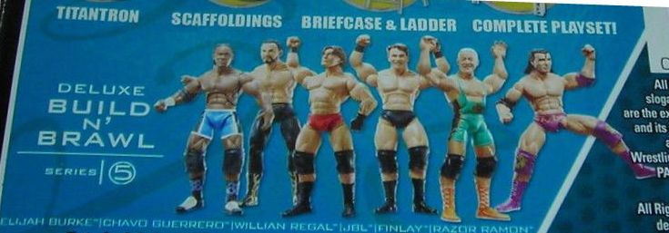 WWE Wrestling 3.75 Inch Figures Build N Brawl Series 5 Elijah Burke William Regal Razor Ramon Chavo Guerrero Finlay and JBL Figures