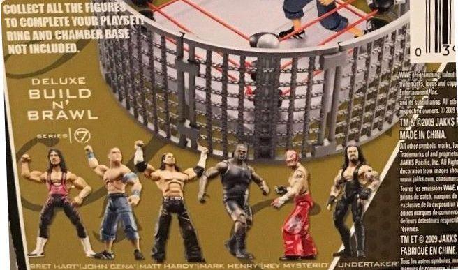 WWE Wrestling 3.75 Inch Figures Build N Brawl Series 7 Matt Hardy Undertaker, Rey Mysterio Bret Hart  Mark Henry  John Cena
