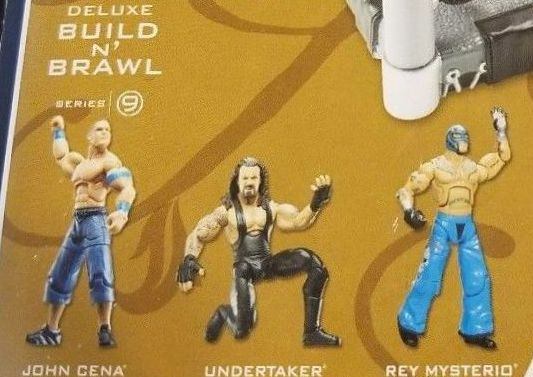 WWE Wrestling 3.75 Inch Figures Build N Brawl Series 9 Rey Mysterio John Cena The Undertaker Jakks Build N Brawl Figures