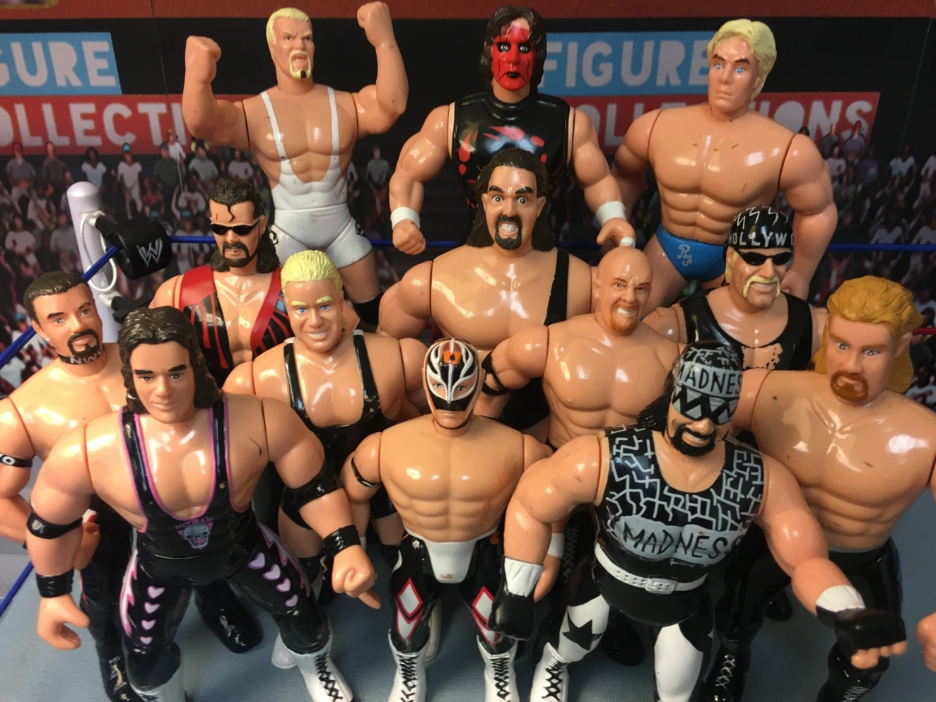 WCW Wrestling Original San Francisco Toy Makers OSFTM Series Randy Savage Rick Steiner Scott Steiner Goldberg Bret Hart The Giant Ric Flair Sting Big Show Mr Perfect Figures