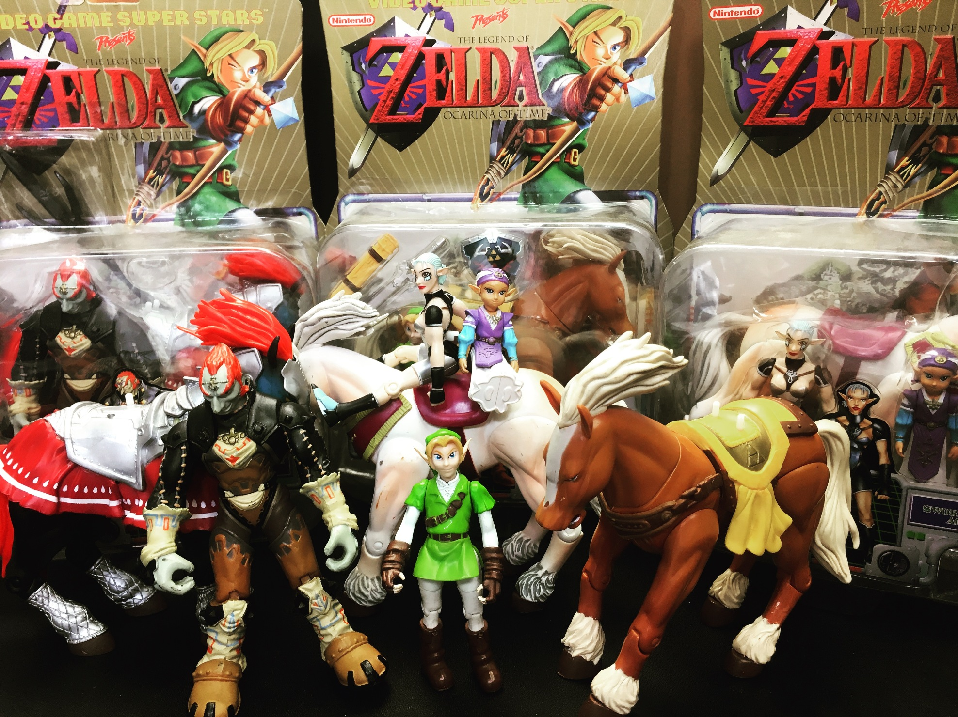 Toy Biz Toybiz 1999 2000 Legend of Zelda Ocarina of Time Videogame Superstars Video Game Super Stars Figures Link Ganondorf Impa Zelda Horses Toybiz Figures