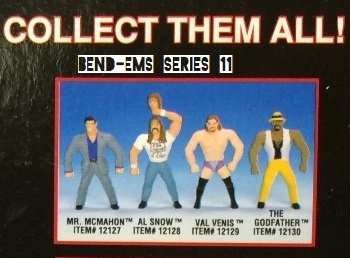 Just Toys Justoys Bend-Ems Bendems Bend Ems WWE WWF Bend-Ems Series 11 Al Snow Godfather Steve Austin Val Venis Vince McMahon