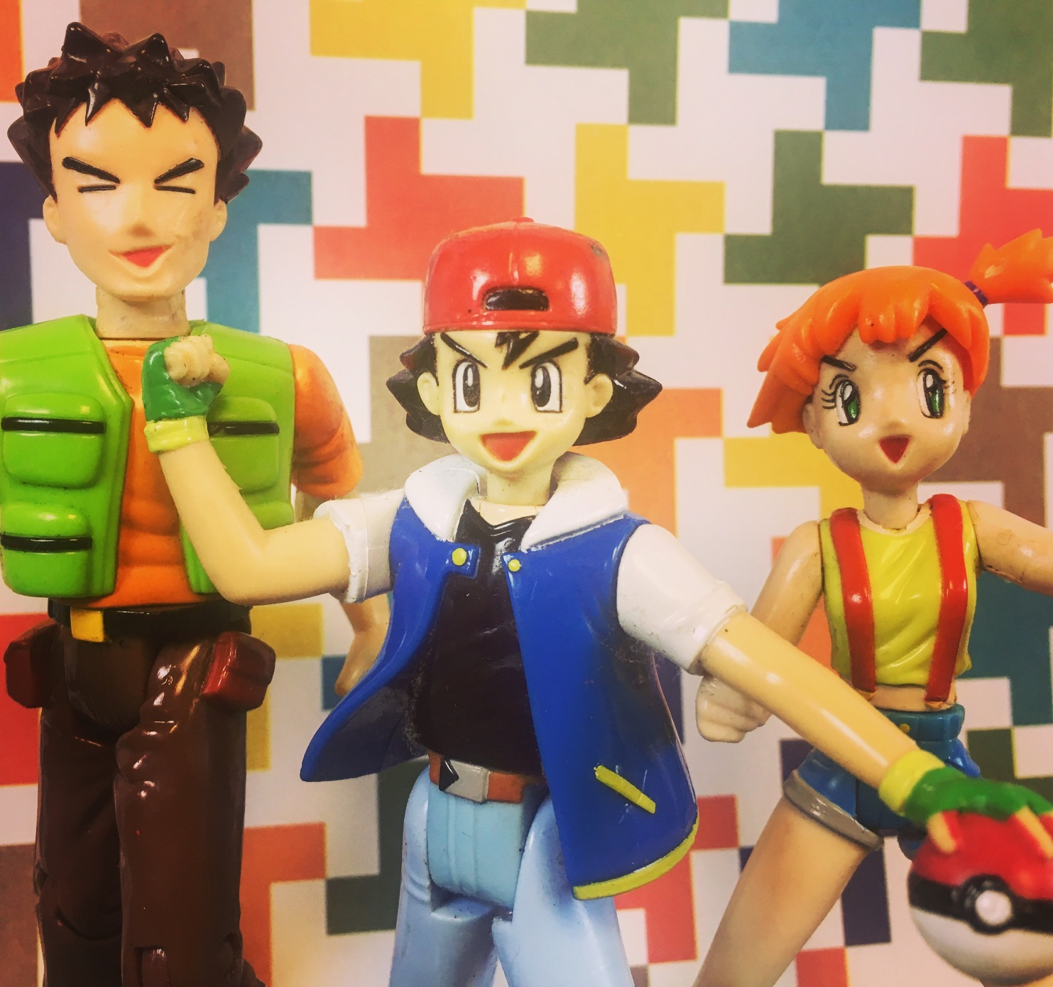 Hasbro TOMY Pokemon Trainers Ash Ketchum Misty Brock Figures Checklist Action Figure Database