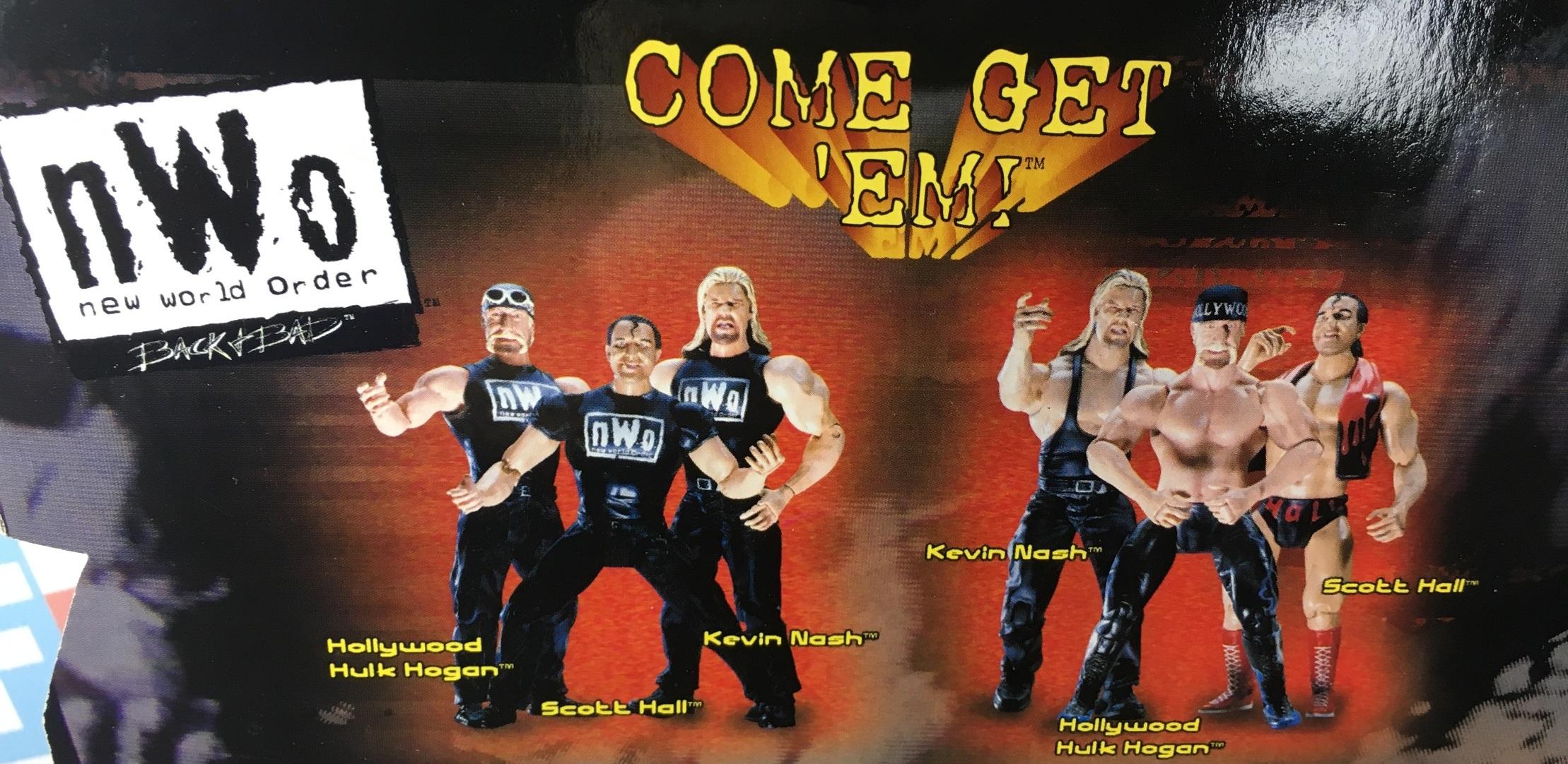 WWE Wrestling Jakks R3 Tech R-3 Tech NWO Series 1 Kevin Nash Scott Hall Hollywood Hulk Hogan