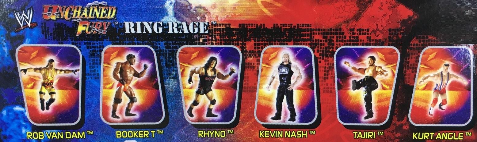 WWE Wrestling Jakks R3 Tech R-3 Tech Unchained Fury Series 3 Kurt Angle Booker T Rob Van Dam Rhyno Tajiri Kevin Nash