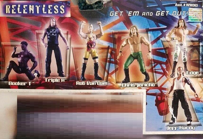 WWE Wrestling Jakks R3 Tech R-3 Tech Unrelenting Jeff Hardy Chris Jericho Booker T Rob Van Dam Edge Triple H
