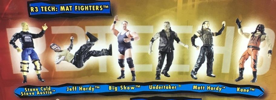 WWF WWE Wrestling Jakks R3 Tech Series 3 Big Show Jeff Hardy Matt Hardy Undertaker Big Show Kane Figures
