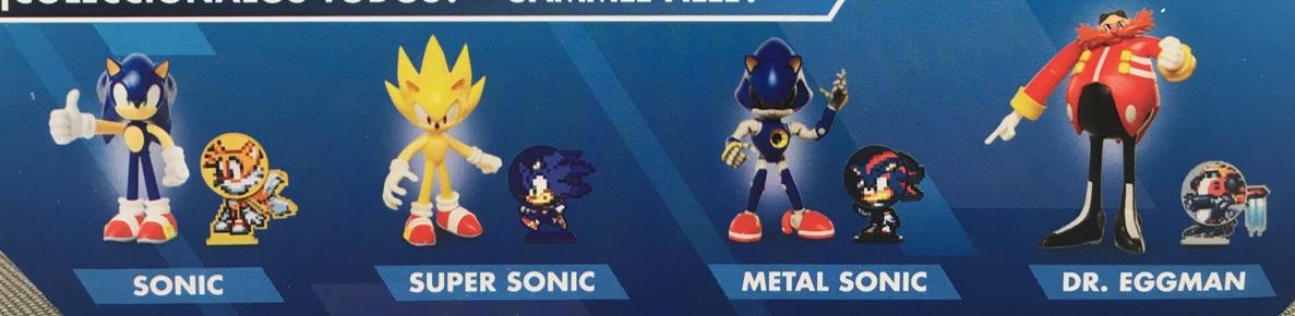 Jakks Pacific Sonic the Hedgehog Bendable Figures Series 2 New Sonic Super Sonic Metal Sonic Dr Eggman Dr. Robotnik Figures Set Picture Checklist