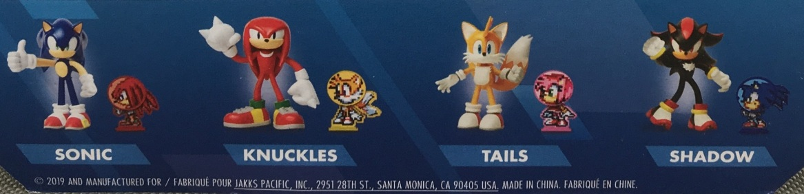 Jakks Pacific Sonic the Hedgehog Bendable Figures Series 1 Knuckles Sonic the Hedgehog Tails Shadow Figures Set Picture Checklist