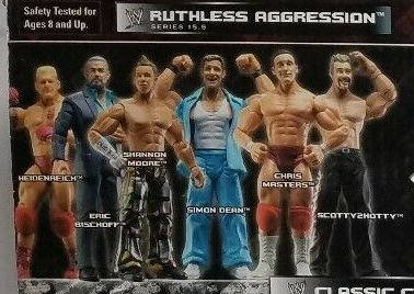 WWE Wrestling Jakks  Pacific Ruthless Aggression Series 15.5 Heidenreich Chris Masters Scotty Too Hotty Shannon Moore Eric Bischoff Simon Dean Figures