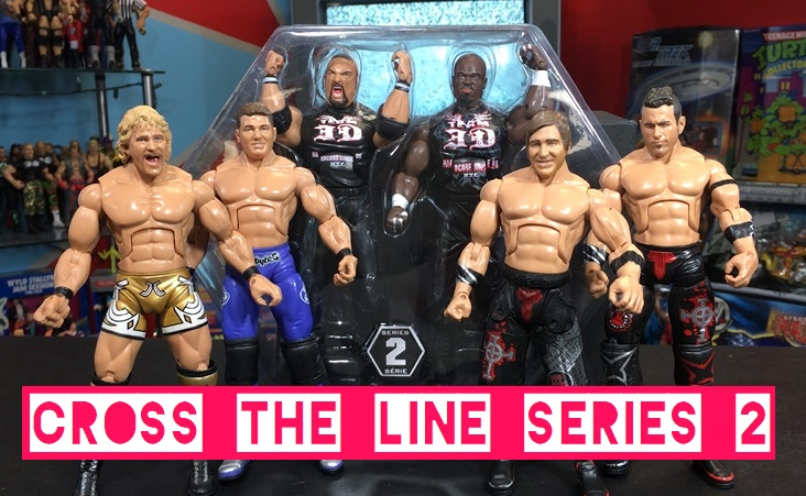 TNA Impact Wrestling Jakks Deluxe Cross the Line Series 2 Motor City Machine Guns Alex Shelley Chris Sabin Bubba Ray Dudley D-Von Team 3D Jeff Jarrett AJ Styles