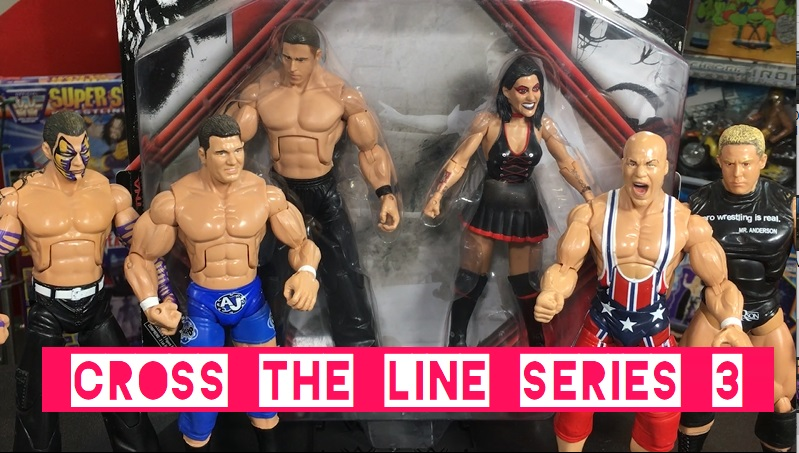 TNA Impact Wrestling Jakks Deluxe Cross the Line Series 3 Dr Stevie Richards Daffney AJ Styles Jeff Hardy Kurt Angle Mr Anderson Kennedy