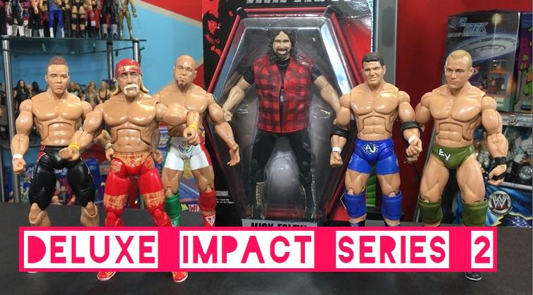 TNA Impact Wrestling Jakks Deluxe Aggression Series 2 Hulk Hogan AJ Styles Hernandez Amazing Red Mick Foley Mankind Eric Young Figures