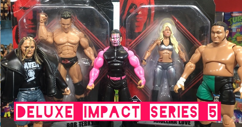 TNA Impact Wrestling Jakks Deluxe Aggression Series 5 Rob Terry Angelina Love Jeff Hardy Samoa Joe Ruthless Aggression Legends of the Ring Raven Figures