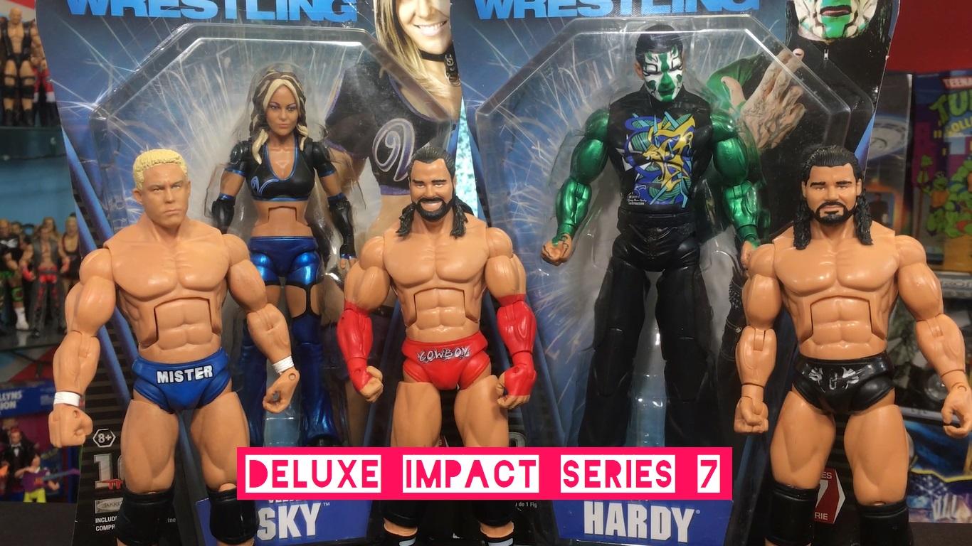 TNA Impact Wrestling Jakks Deluxe Aggression Series 7 Velvet Sky Jeff Hardy Robert Bobby Roode James Storm Mr Kennedy Anderson Figures