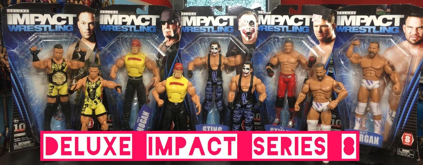 TNA Impact Wrestling Jakks Deluxe Aggression Series 8 AJ Styles Hulk Hogan Matt Morgan Rob Van Dam RVD 420 Joker Sting Figures