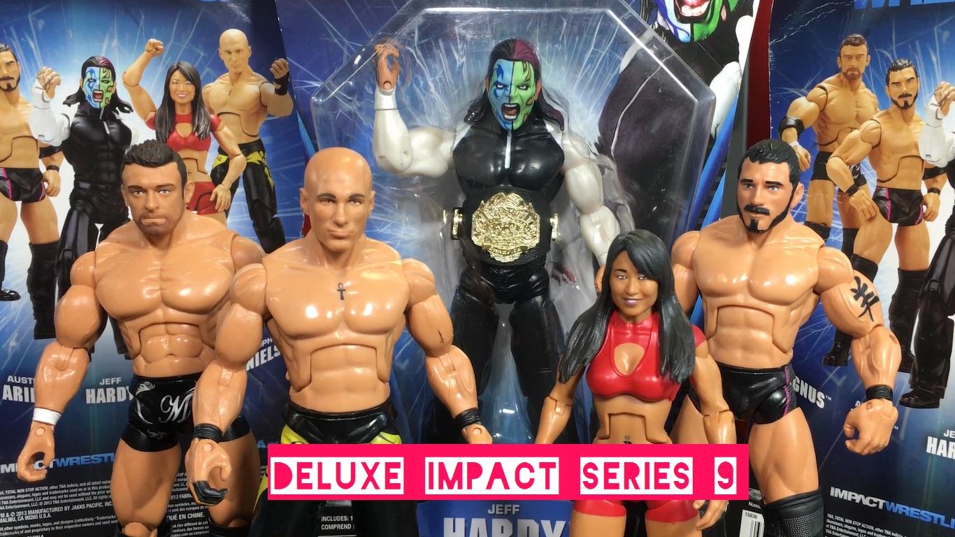 TNA Impact Wrestling Jakks Deluxe Aggression Series 9 Austin Aries Brutus Magnus Nick Aldis Christopher Daniels Gail Kim Jeff Hardy Figures