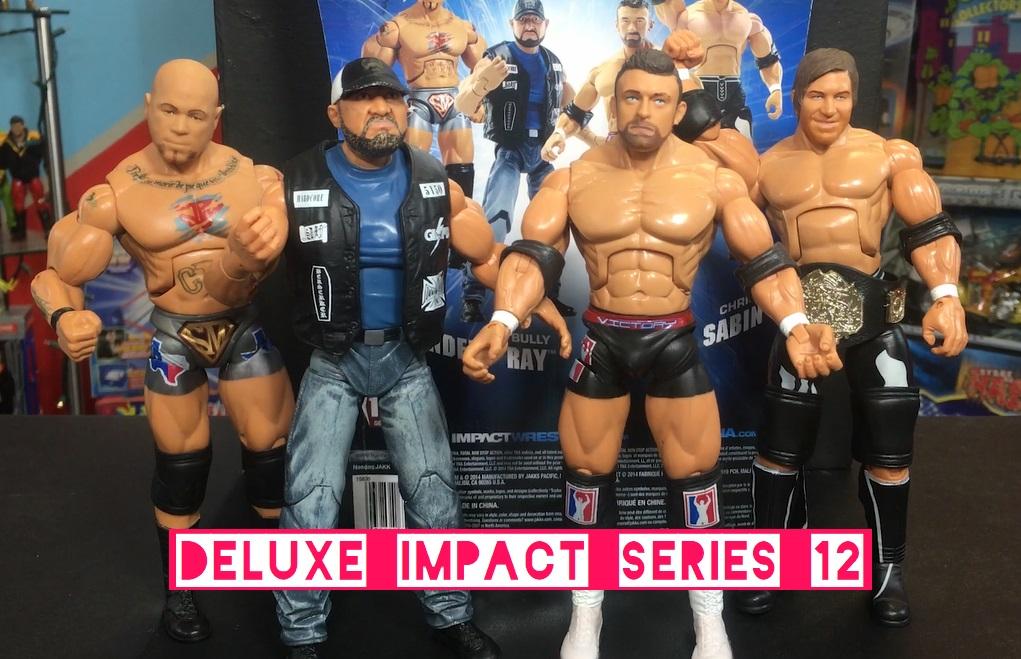 TNA Impact Wrestling Jakks Deluxe Aggression Series 12 Bubba Ray Bully Ray Dudley Chris Sabin Hernandez Magnus Nick Aldis Figures