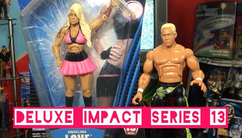 TNA Impact Wrestling Jakks Deluxe Aggression Series 13 Angelina Love Mr Kennedy Anderson Ken Figures