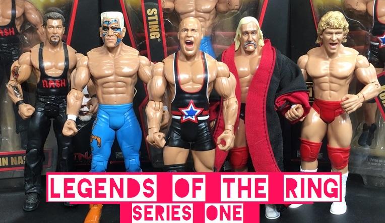 TNA Impact Wrestling Jakks Ruthless Classic Superstars Legends of the Ring Kurt Angle Sting Kevin Nash Hulk Hogan Jeff Jarrett Unreleased Scott Steiner Figures