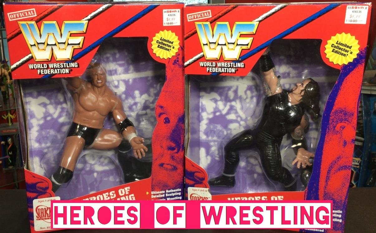 WWF  Playmates WWE Playmates Toys Heroes of Wrestling Large Figures Undertaker Psycho Sycho Sid Unreleased