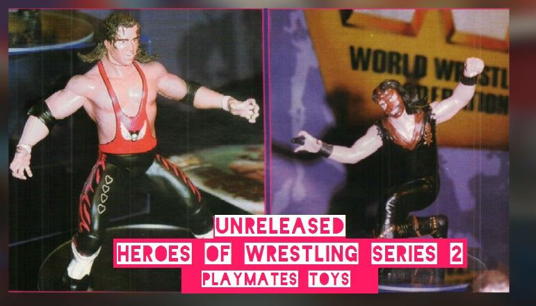 WWF  Playmates WWE Playmates Toys Heroes of Wrestling Large Figures Unreleased Bret Hart and Mankind