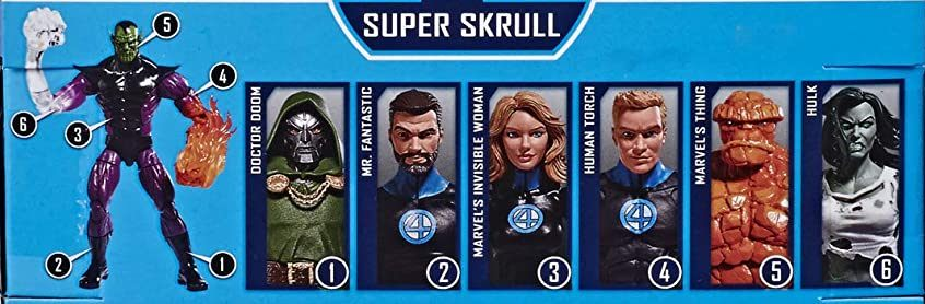 Hasbro Marvel Legends 2020 Build a Figure Series Fantastic Four Mr. Fantastic, Invisible Woman, Human Torch, The Thing, Dr. Doom, and Hulk Build a Super Skrull Figure Series 2020 Figures