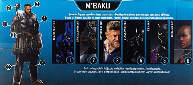 Hasbro Marvel Legends 2019 Build a Figure Mbaku M Baku Series Black Panther, Black Panther (Infinity War), Ulysses Klaue, Tchaka, Dora Milaje, Erik Killmonger, Mbaku Figures
