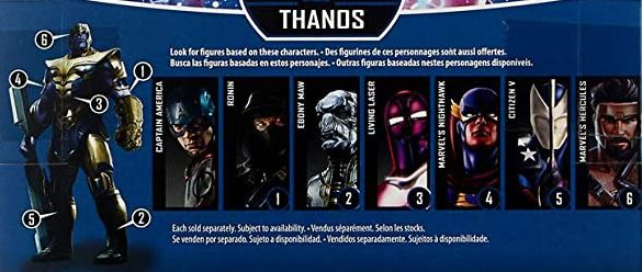 Hasbro Marvel Legends 2019 Build a Thanos Series Captain America, Citizen V, Ebony Maw, Hercules, Living Laser, Nighthawk, Ronin Figures