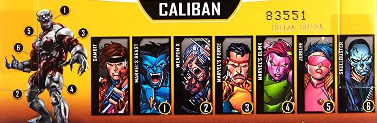 Hasbro Marvel Legends 2019 Build a Caliban Series X-Men Skullbuster, Beast, Gambit, Jubilee, Blink, Forge, Weapon X Wolverine Figures