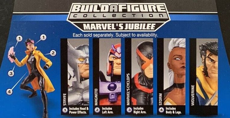 Hasbro Marvel Legends 2014 X-Men Build a Jubilee Figure Series Marvel Now Cyclops, Margneto, Marvel Now Storm, Stryfe, Wolverine Figures