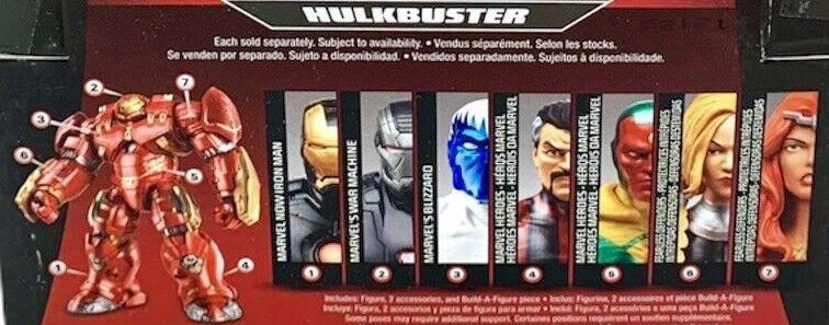 Hasbro Marvel Legends 2015 Hulkbuster Build a Figure Series Incredible Hulk Buster Blizzard Dr Strange Iron Man Thundra Valkyrie Vision War Machine Figures